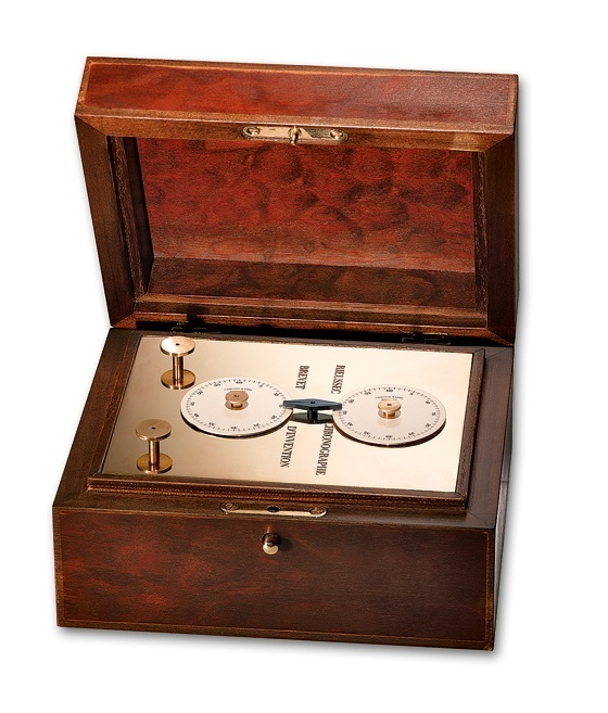 A modern replica of Nicolas Rieussec's ink-droplet chronograph from 1821