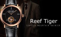 Classic Beauty of Art: Reef Tiger Artist Constant Multi-layered Dial Watch